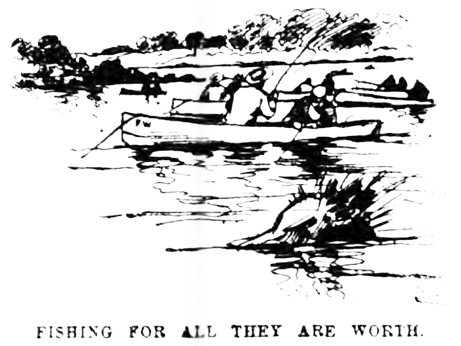 historic pelham  fishing in pelham bay during the early 1890s