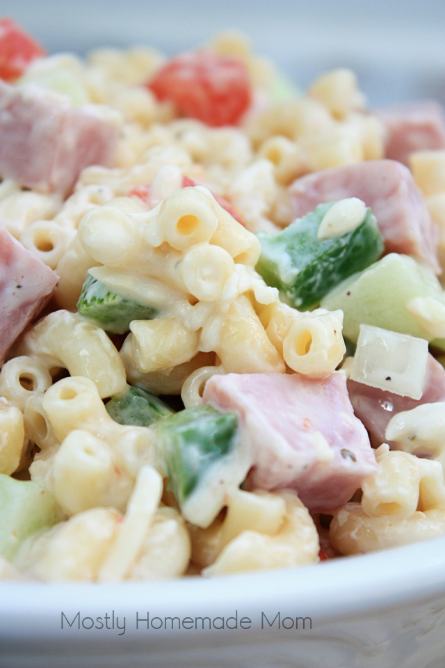 Ham And Cheese Ranch Macaroni Salad Mostly Homemade Mom