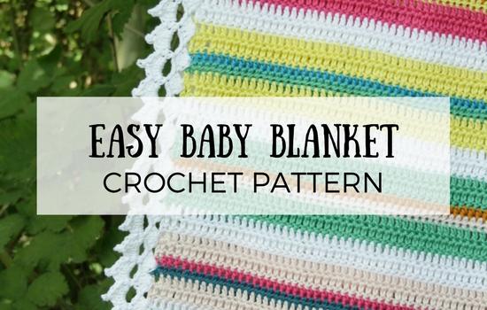 Easy Baby Blanket, crochet pattern | Happy in Red