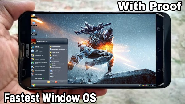 How to run Fastest Windows OS on Any Android Phone ..!! [Run .EXE] [With Internet Connection Enabled]..!!!