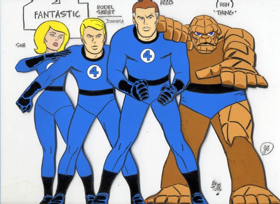 Fantastic 4 Cartoon Characters