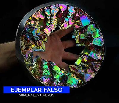 Bismuto geoda - cristales de sintéticos - mineral falsos