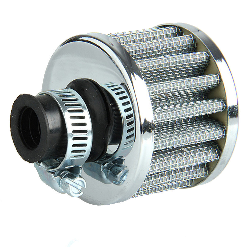 intercontinental automotive silver car cone air intake filter 12 mm turbo vent crankcase. Black Bedroom Furniture Sets. Home Design Ideas