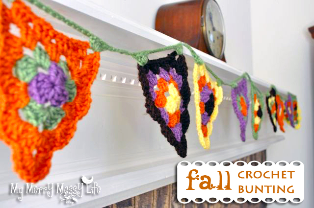 Free Crochet Fall Bunting Pattern using the Granny Stitch - super cute and festive!
