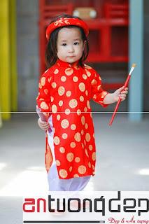 bán cho thuê áo dài đỏ