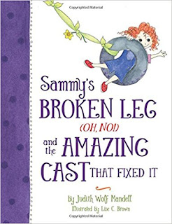 Sammy's BROKEN LEG and the AMAZING CAST THAT FIXED  IT- a bookwrap
