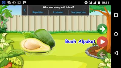 Belajar mengenal nama buah-buahan