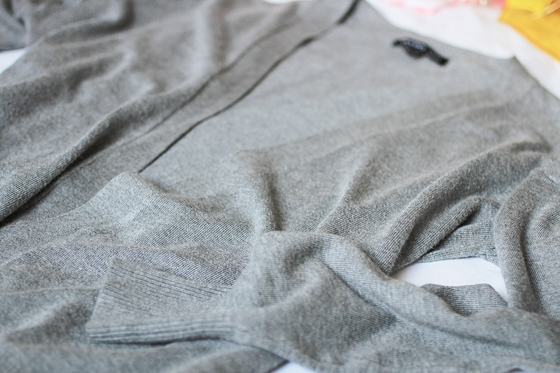 mango grey cardigan