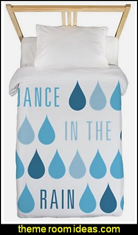 Dance In The Rain Twin Duvet raindrops bedding rain themed bedrooms