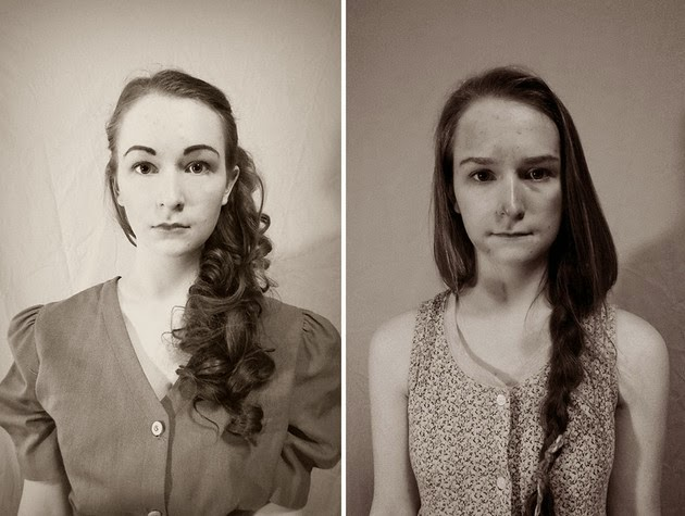 before and after, past and present, old century fashion