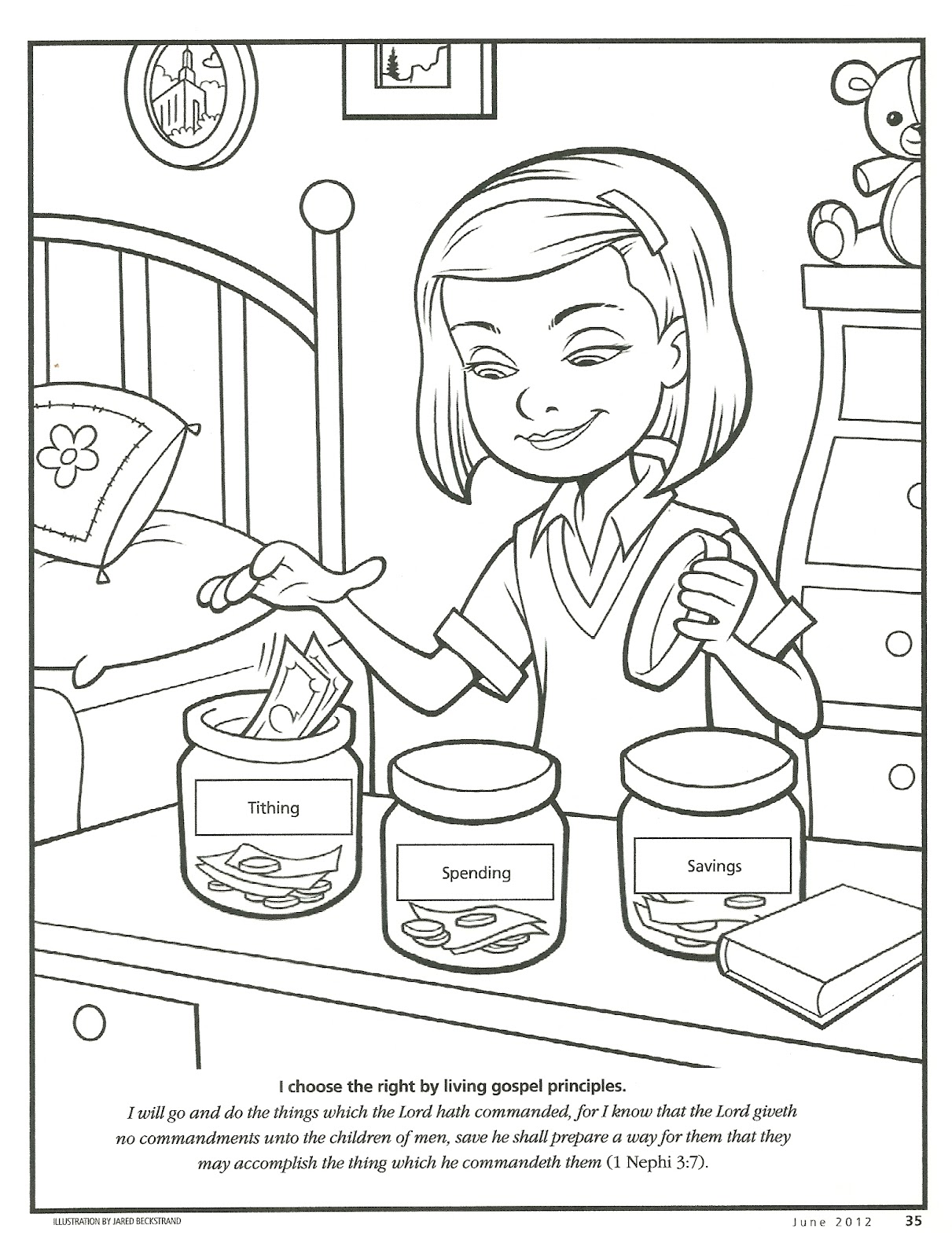 integrity coloring pages - happy clean living primary 2 lesson 33