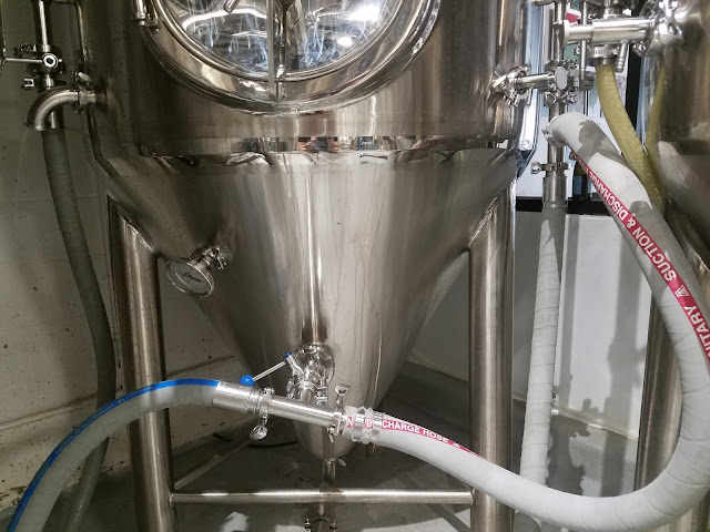 The fermentor during the cleaning process.