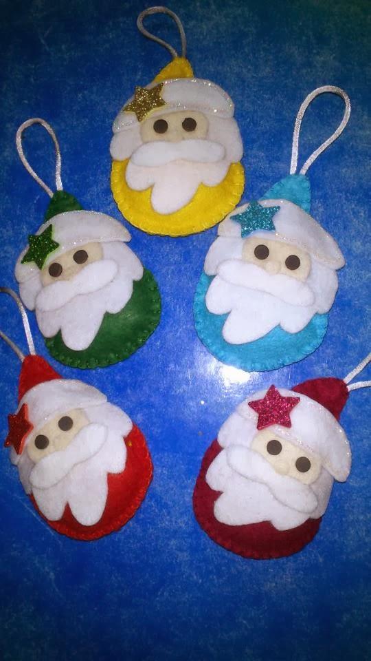 comienza la navidad y por eso os presento unos adornos navideos por supuesto hechos a mano de fieltro vuestro rbol lucir diferente with adornos de navidad
