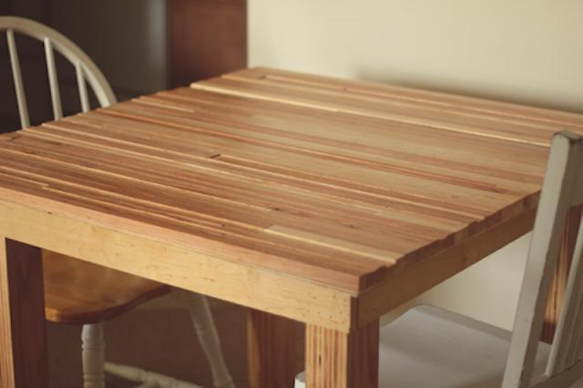 always rooney: Handmade Kitchen Table