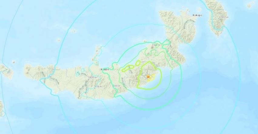 Terremoto de Magnitud 7.0 y Alerta de Tsunami en Papúa Nueva Guinea (Hoy Miércoles 10 Octubre 2018) Sismo Temblor EPICENTRO - Kimbe - Nueva Bretaña - USGS - www.earthquake.usgs.gov