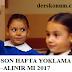 SON HAFTA YOKLAMA ALINIR MI 2017