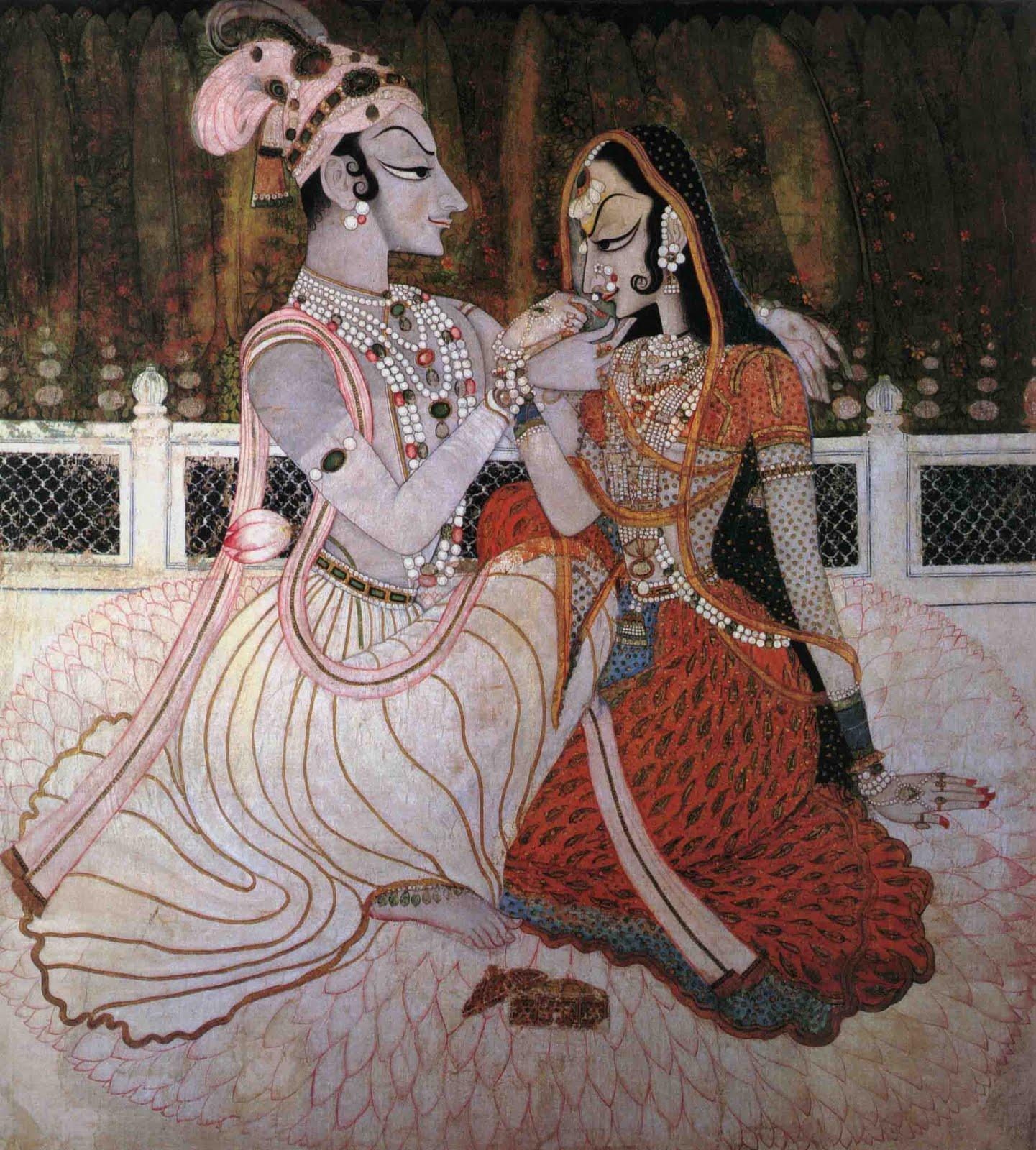 Indian Miniature Paintings: Radha Krishna
