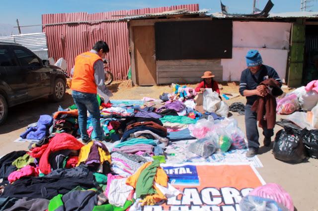 Municipalidad de El Tambo prepara prendas para donar por friaje