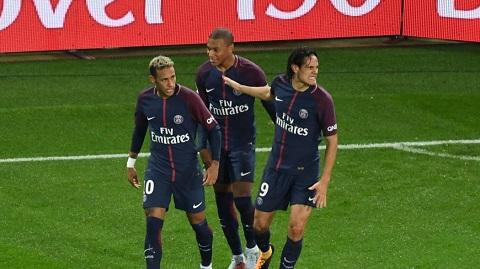 PSG có cơn mưa bàn thắng trong hiệp 1.
