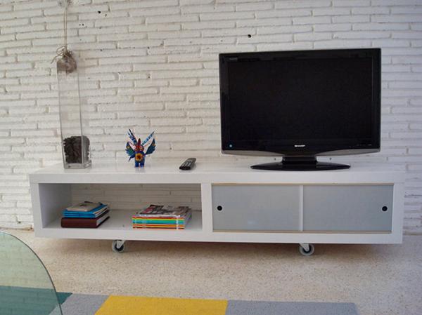 Kumpulan Desain Meja dan Rak TV Minimalis Terbaru Yang Elegan 012