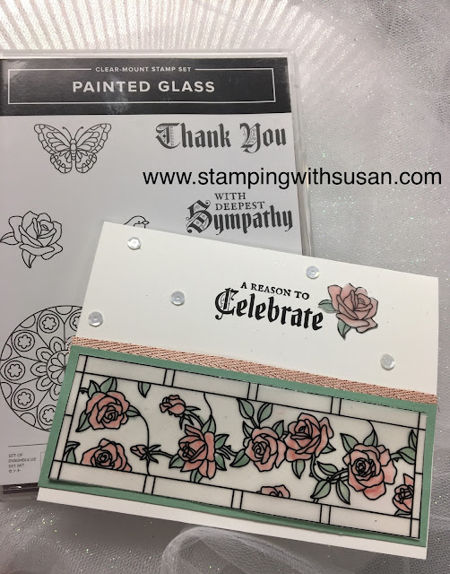 Stampin' Up!, www.stampingwithsusan.com, Painted Glass, Stained Glass