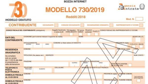 Modello 730 Del 2019 Editabile Compilabile Salvabile In Pdf