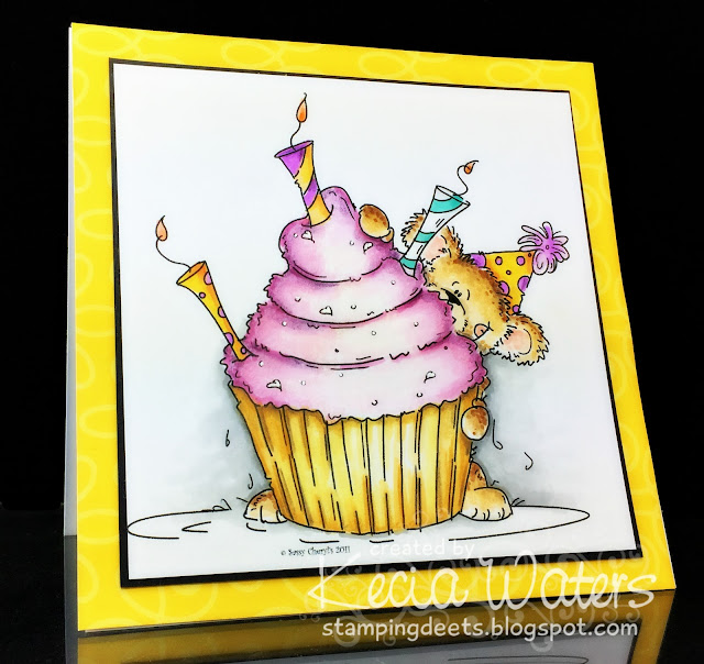 Sassy Cheryl's, Kecia Waters, Copic markers, birthday, cupcake, bear