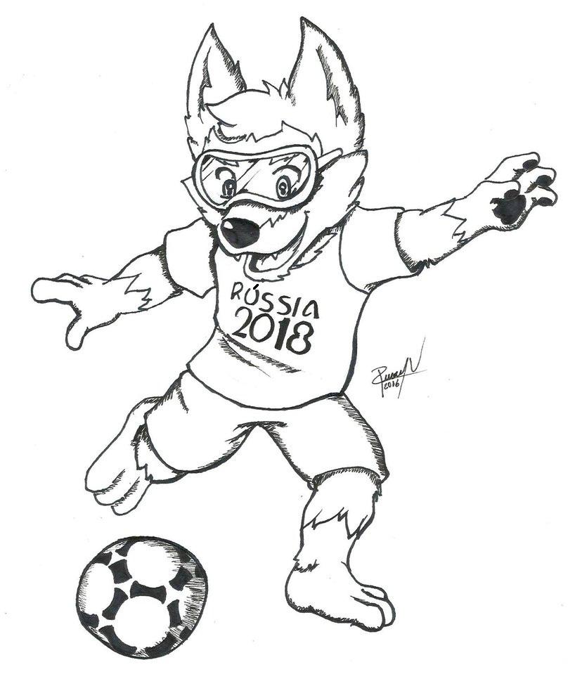 Blog de Geografia  Mascote da Copa do Mundo de 2018 para Colorir bdebe47b283