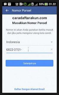 mendaftar facebook blackberry