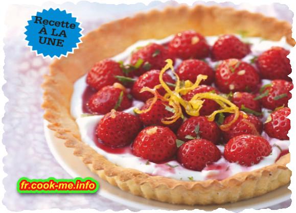 Tarte aux fraises et fromage blanc