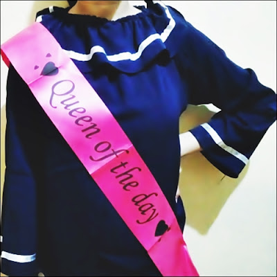 Selempang QUEEN OF THE DAY / Sash QUEEN OF THE DAY (Super Murah)