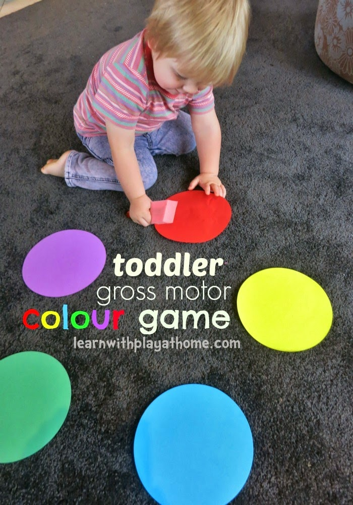 Learn with Play at Home: Toddler gross motor colour ...