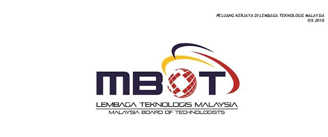 Jawatan Kosong di Lembaga Teknologis Malaysia (MBOT)