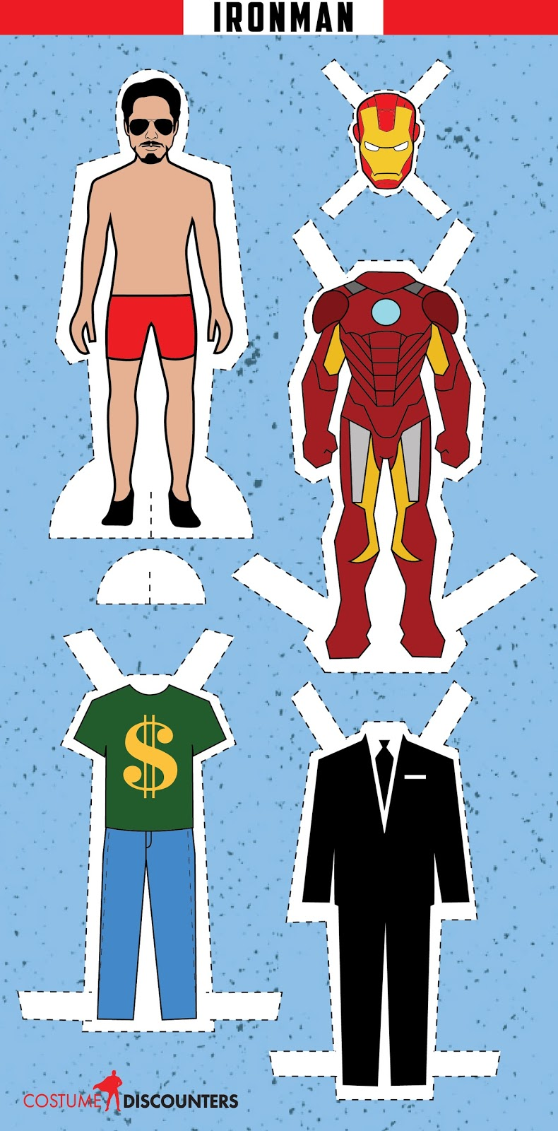 Ironman Free Printable Paper Doll Oh My Fiesta For Geeks