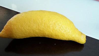 lemon berbentuk seperti pisang