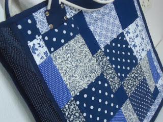 bolsa azul chic