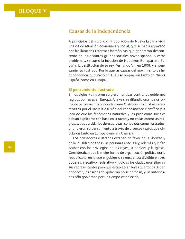 Causas de la Independencia - Historia 4to Bloque 5 ~ Apoyo ...