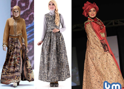Gamis Batik Kombinasi dian pelangi terbaru