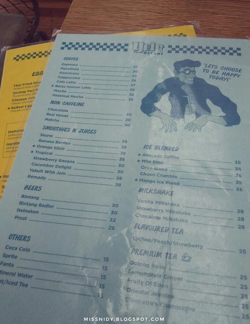 harga menu dan makanan di yelo eatery bogor
