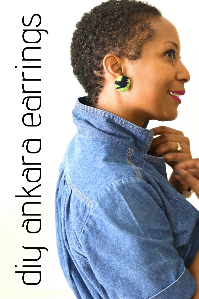 diy fabric earrings