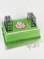 Jalkapallokakku, synttärikakku, urheilukakku, jalkapallokenttäkakku, juhlakakku, topcake, täytekakku, suklaakakku, eps-kakku, pelikakku