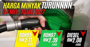 Thumbnail image for Harga Minyak Untuk 04 Mei Hingga 10 Mei 2017 Turun Lagi