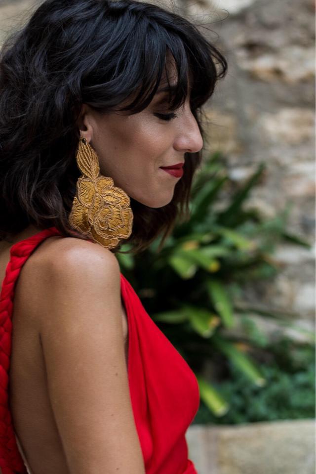 vestido rojo fiesta boda invitada perfecta blog atodoconfetti red dress