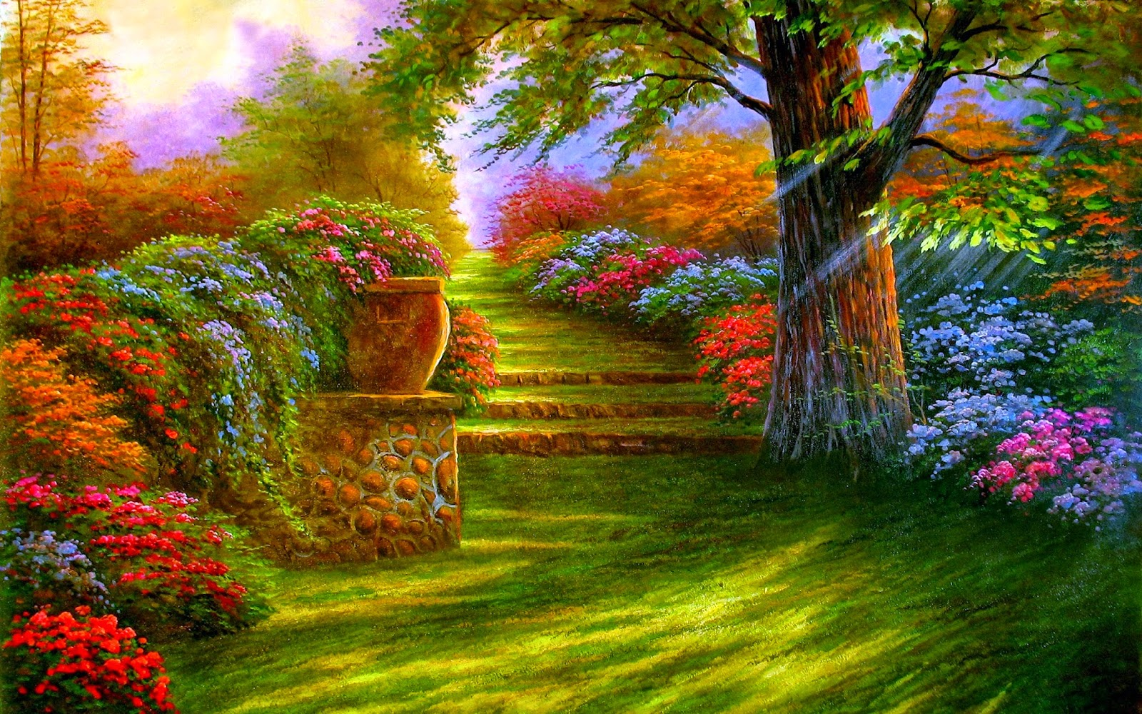 Colorful Garden New Hd Wallpapers - Wallpapers-8860