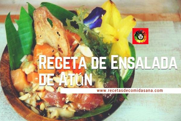 Receta de Ensalada de Atún comida sana para disfrutar