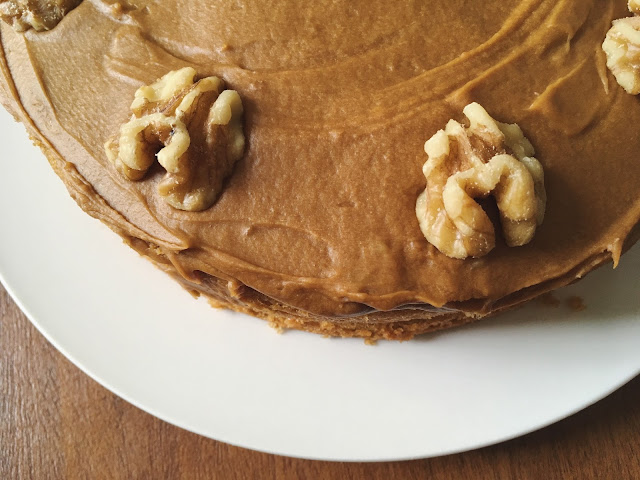 Easy Coffee & Walnut Cake Recipe