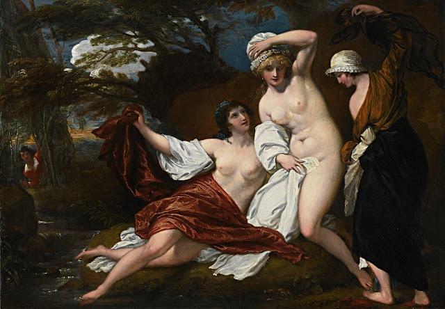 Benjamin West: Musidora e le sue amiche al bagno