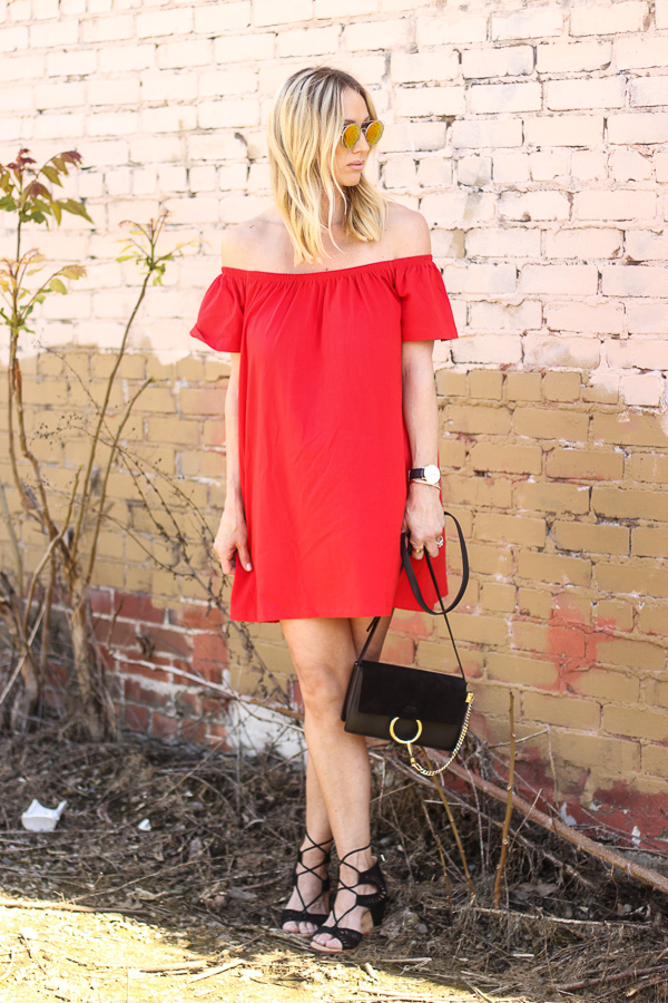 ruffle top off shoulder