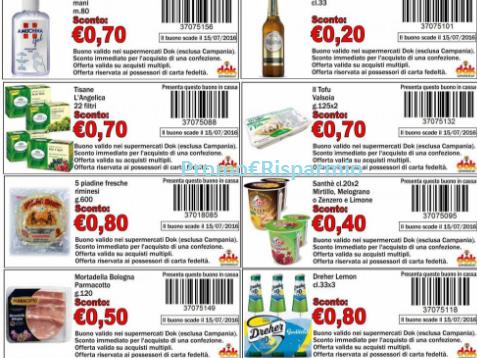 Promo risparmio buoni sconto supermercati dok 13 nuovi for Buoni coupon