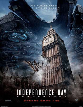 Poster Of Independence Day Resurgence 2016 Dual Audio 350MB HC HDRip 576p ESubs Free Download Watch Online Worldfree4u